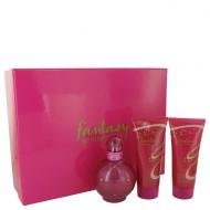 Fantasy by Britney Spears - Gjafasett- 3.3 oz Eau De Parfum Spray + 3.3 oz Body Souffle + 3.3 oz Shower Gel f. dömur