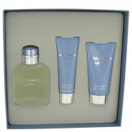 Light Blue by Dolce & Gabbana - Gjafasett - 4.2 oz Eau De Toilette Spray + 2.5 oz After Shave Balm + 1.7 oz Shower Gel f. herra