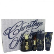 Christian Audigier by Christian Audigier - Gjafasett - 3.4 oz Eau De Toilette Spray + .25 oz MIN EDT + 3 oz Body Wash + 2.75 Deodorant Stick f. herra