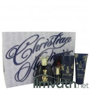 Christian Audigier by Christian Audigier - Gjafasett- 3.4 oz Eau De Toilette Spray + .25 oz MIN EDT + 3 oz Body Wash + 2.75 Deodorant Stick f. herra