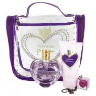 Princess by Vera Wang - Gjafasett- 1.7 oz Eau De Toilette Spray + 2.5 oz Body Lotion + .11 oz Lip Gloss  + Travel Bag f. dömur