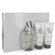 AV by Adrienne Vittadini - Gjafasett- 3 oz Eau De Parfum Spray + 3.3 Body Lotion + 3.3 oz Shower Gel f. dömur