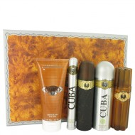 Cuba Gold by Fragluxe - Gjafasett - 3.3 oz Eau De Toilette Spray + 3.3 oz After Shave Spray + 6.7 oz Body Deodorant Spray + 6.7 oz Shower Gel +  1.17 oz EDT Spray f. herra