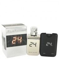 24 Platinum The Fragrance by ScentStory - Eau De Toilette Spray + 0.8 oz Mini Pocket Spray 100 ml d. herra