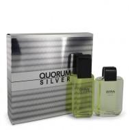 Quorum Silver by Puig - Gjafasett- 3.4 oz Eau De Toilette Spray + 3.4 oz After Shave f. herra