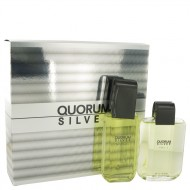Quorum Silver by Puig - Gjafasett - 3.4 oz Eau De Toilette Spray + 3.4 oz After Shave f. herra