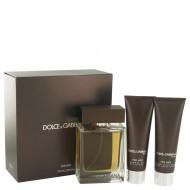 The One by Dolce & Gabbana - Gjafasett - 3.4 oz Eau De Toilette Spray + 1.7 oz Shower Gel + 1.7 oz After Shave Balm f. herra