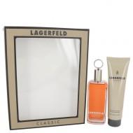 LAGERFELD by Karl Lagerfeld - Gjafasett - 3.3 oz Eau De Toilette Spray + 5 oz Shower Gel f. herra