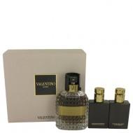 Valentino Uomo by Valentino - Gjafasett - 3.4 oz Eau De Toilette Spray + 1.7 oz Shower Gel + 1.7 oz After Shave Balm f. herra