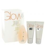 Glow by Jennifer Lopez - Gjafasett- 3.4 oz Eau De Toilette Spray + 2.5 oz Body Lotion + 2.5 oz Shower Gel f. dömur