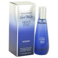 Cool Water Night Dive by Davidoff - Eau De Toilette Spray 50 ml f. dömur