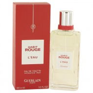 Habit Rouge L'eau by Guerlain - Eau De Toilette Spray 100 ml f. herra