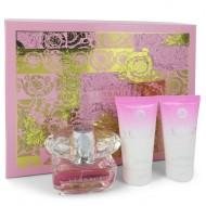 Bright Crystal by Versace - Gjafasett - 1.7 oz Eau De Toilette Spray + 1.7 oz Body Lotion + 1.7 oz Shower Gel f. dömur