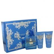 Versace Man by Versace - Gjafasett - 1.7 oz Eau De Toilette Spray (Eau Fraiche) + 1.7 oz Shower Gel + 1.7 oz After Shave Balm f. herra