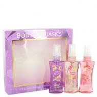 Body Fantasies Signature Japanese Cherry Blossom by Parfums De Coeur - Gjafasett - Three 1.7 oz Body Sprays Includes Japanese Cherry Blossom + Sweet Crush + Pink Sweet Pea Fantasy f. dömur