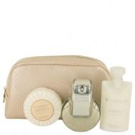 OMNIA CRYSTALLINE by Bvlgari - Gjafasett- 2.2 oz Eau De Toilette Spray + 2.5 oz Body Lotion + 2.6 oz Scented Soap + Beauty Pouch f. dömur