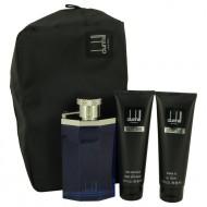 Desire Blue by Alfred Dunhill - Gjafasett - 3.4 oz Eau DE Toilette Spray + 3 oz Shower Gel + 3 oz After Shave Balm + Bag f. herra
