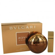 Bvlgari Aqua Amara by Bvlgari - Gjafasett - 3.4 oz Eau De Toilette Spray + 0.5 oz Mini EDT Spray d. herra