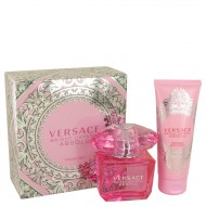 Bright Crystal Absolu by Versace - Gjafasett - 3 oz Eau De Parfum Spray + 3.4 oz Body Lotion f. dömur