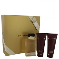 Dolce & Gabbana Pour Femme by Dolce & Gabbana - Gjafasett- 3.4 oz Eau De Parfum Spray + 3.4 oz Shower Gel + 3.4 oz Body Lotion f. dömur