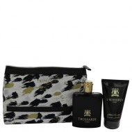 TRUSSARDI by Trussardi - Gjafasett- 3.4 oz Eau De Toilette Spray + 3.4 oz Shower Gel + Trusssardi Pouch f. herra