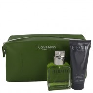 ETERNITY by Calvin Klein - Gjafasett- 3.4 oz Eau De Toilette Spray + 3.4 oz After Shave Balm in Eternity Men Bag f. herra