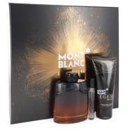Montblanc Legend Night by Mont Blanc - Gjafasett- 3.3 oz Eau De Parfum Spray +.25 oz  Mini EDP Spray + 3.3 oz After Shave Balm f. herra