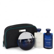 Bvlgari Aqua Atlantique by Bvlgari - Gjafasett - 3.4 oz Eau De Toilette Spray + 2.2 oz Shower Gel + 2.2 oz After Shave Balm in Pouch d. herra