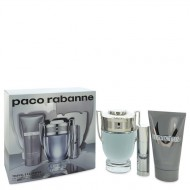 Invictus by Paco Rabanne - Gjafasett - 3.4 oz Eau De Toilette Spray + .34 oz Mini EDT Spray + 2.5 oz Shower Gel f. herra