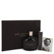 John Varvatos Vintage by John Varvatos - Gjafasett - 4.2 oz Eau De Toilette Spray + 0.57 oz Mini EDT Spray + 0.05 oz Vial (sample) f. herra