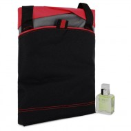 ETERNITY by Calvin Klein - Gjafasett- 1 oz  Eau De Toilette Spray + Medium Red Contrast Duffle Bag f. herra