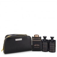 Bvlgari Man In Black by Bvlgari - Gjafasett- 3.4 oz Eau De Toilette Spray + 2.5 oz After Shave Balm +2.5 oz Shower Gel + Pouch f. herra