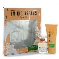 United Dreams Stay Positive by Benetton - Gjafasett- 1.7 oz Eau De Toilette Spray + 3.4 oz Body Lotion f. dömur