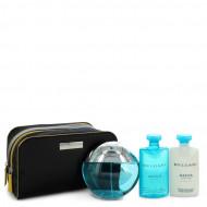 Bvlgari Aqua Marine by Bvlgari - Gjafasett- 3.4 oz Eau De Toilette Spray + 2.5 oz After Shave Balm + 2.5 oz Shower Gel + Pouch f. herra