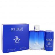 Original Penguin Ice Blue by Original Penguin - Gjafasett - 3.4 oz Eau De Toilette Spray + 2.75 oz Deodorant Stick f. herra