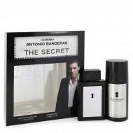 The Secret by Antonio Banderas - Gjafasett- 3.4 oz Eau De Toilette Spray + 5.1 oz Deodorant Spray f. herra