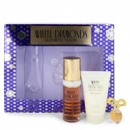 WHITE DIAMONDS by Elizabeth Taylor - Gjafasett - 1 oz Eau De Toilette Spray + .12 oz Min EDP + 1.7 oz Body Lotion f. dömur
