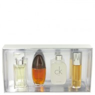 ETERNITY by Calvin Klein - Gjafasett -- Mini Variety Gjafasett Includes Eternity, Obsession Ck One, Escape, All 1/2 oz Sprays Except CK One is a Splash f. dömur
