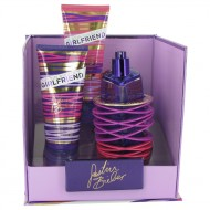 Girlfriend by Justin Bieber - Gjafasett - 3.4 oz Eau De Parfum Spray + 3.4 oz Body Lotion + 3.4 oz Shower Gel f. dömur