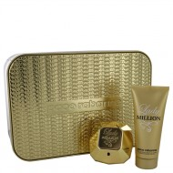 Lady Million by Paco Rabanne - Gjafasett -- 2.7 oz Eau De Parfum Spray + 3.4 oz Body Lotion f. dömur