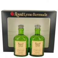 ROYALL LYME by Royall Fragrances - Gjafasett -- Two 4 oz All Purpose Lotion / Cologne Splash includes 2 Spray pumps f. herra