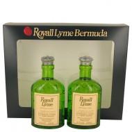ROYALL LYME by Royall Fragrances - Gjafasett -- Two 4 oz All Purpose Lotion / Cologne Splash includes 2 Spray pumps f. herra