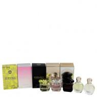 Bright Crystal by Versace - Gjafasett -- Miniature Collection Includes Yellow Diamond, Bright Crystal, Crystal Noir, Eros EDP and Eros EDT f. dömur