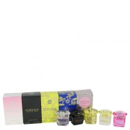 Bright Crystal by Versace - Gjafasett -- Miniature Collection Includes Crystal Noir, Bright Crystal, Yellow Diamond, Bright Crystal Absolu and Yellow Diamond Intense f. dömur